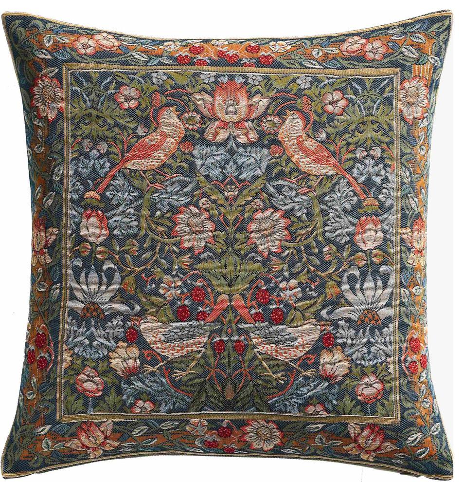 Cushion Birds Face To Face European Cushion For Preferred Birds Face To Face I European Tapestries (View 2 of 20)