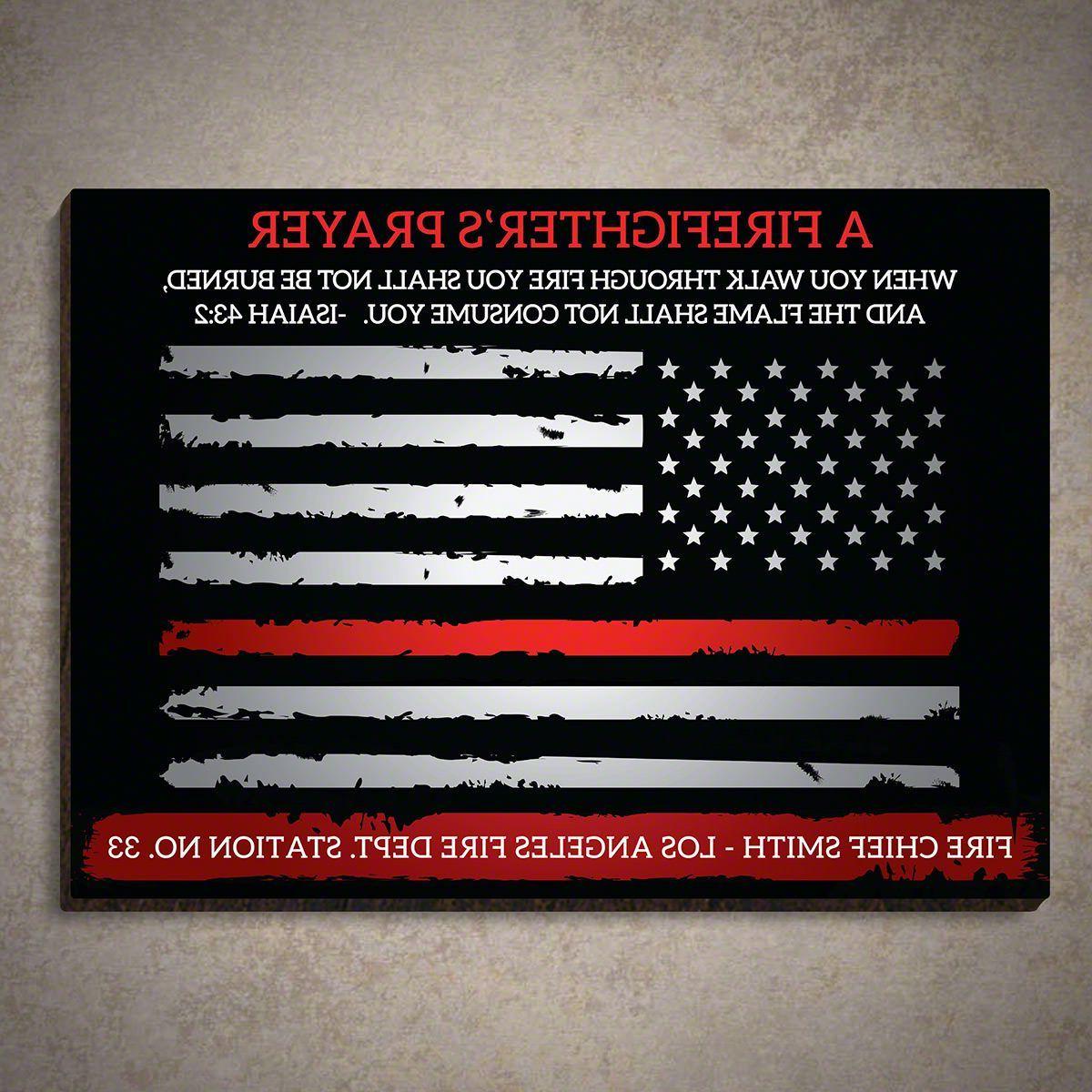 Custom Firefighter's Prayer Sign Isaiah 43: (View 13 of 20)