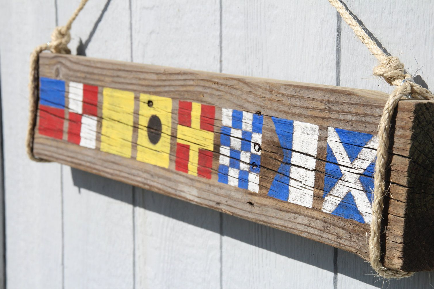 Custom Nautical Flag Sign Name With 4 Letters. $ (View 4 of 20)