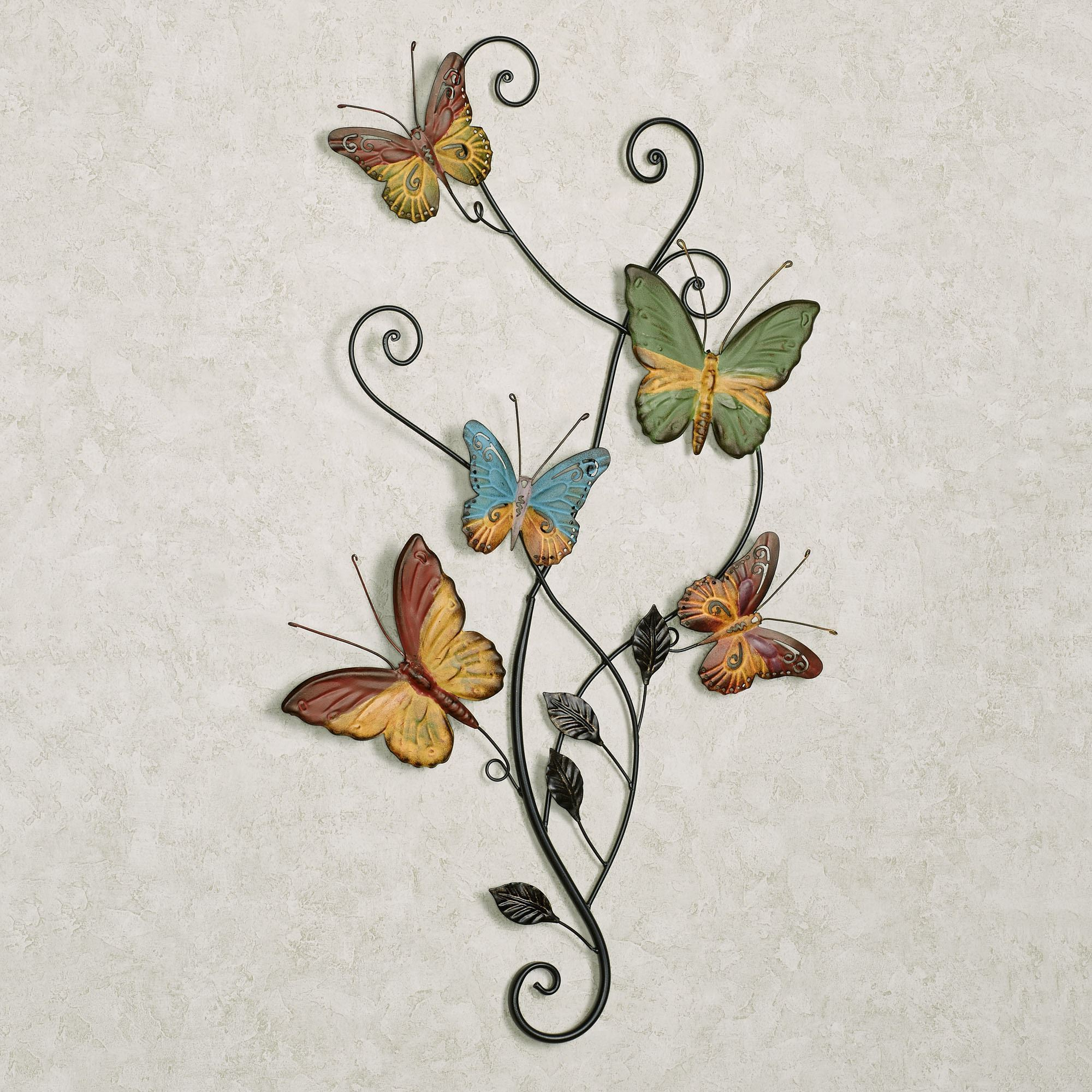 Dancing Butterflies Metal Wall Art With Newest Multicolored Butterfly Bouquet Wall Décor (View 12 of 20)