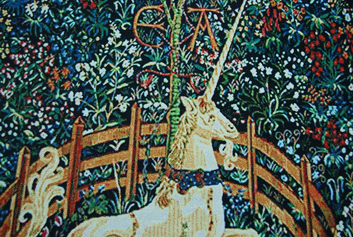 Decor Plus Unicorn In Captivity One Of The Series Of Seven Tapestries The Hunt Of The Unicorn Jacquard Woven Wall Hanging Tapestry (yw007) (red, In 2020 Blended Fabric European Five English Horses Tapestries (View 14 of 20)