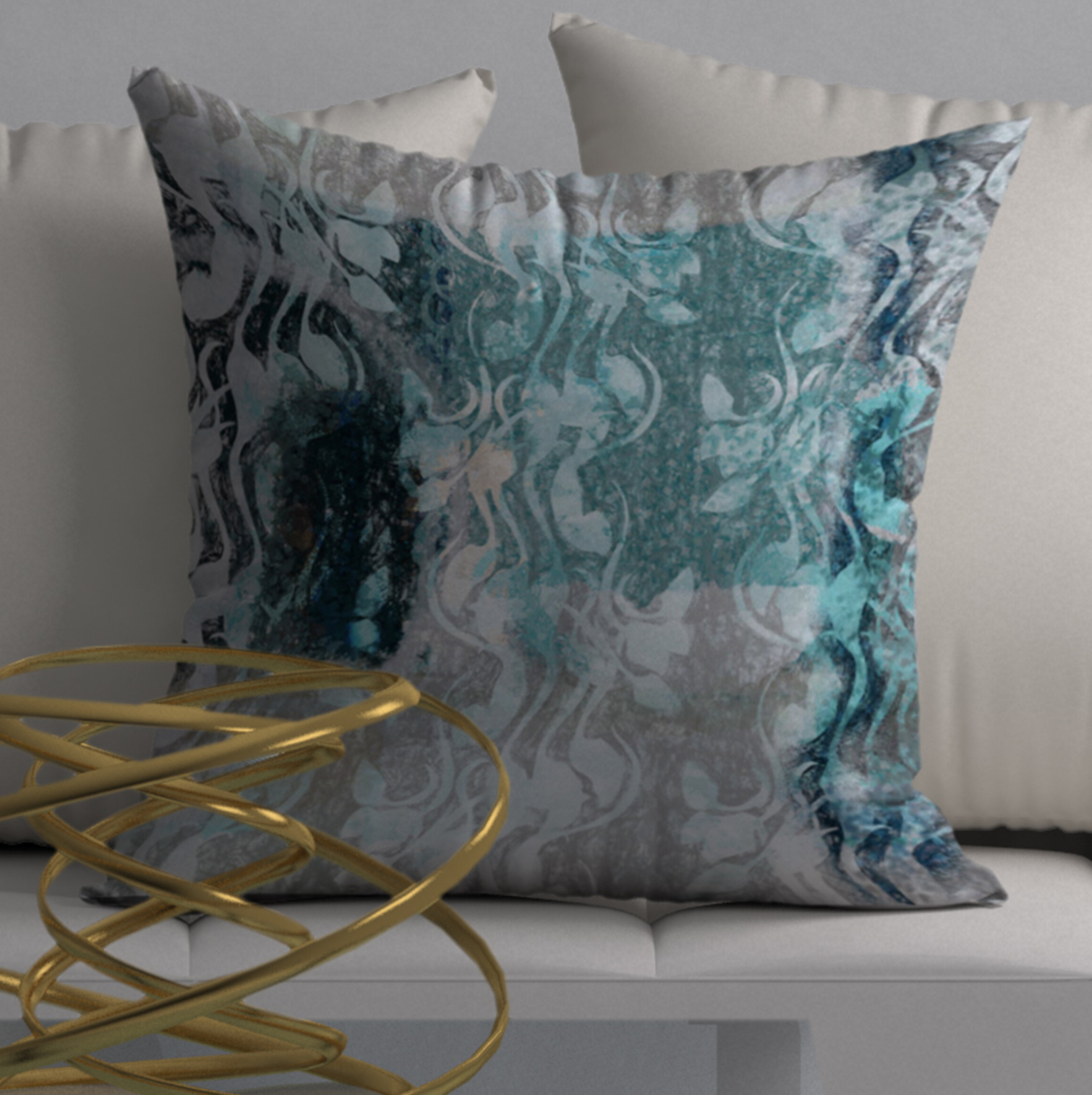 Delicious Graceful Square Pillow Cover & Insert With Well Known Graceful Wall Décor By Orren Ellis (View 9 of 20)