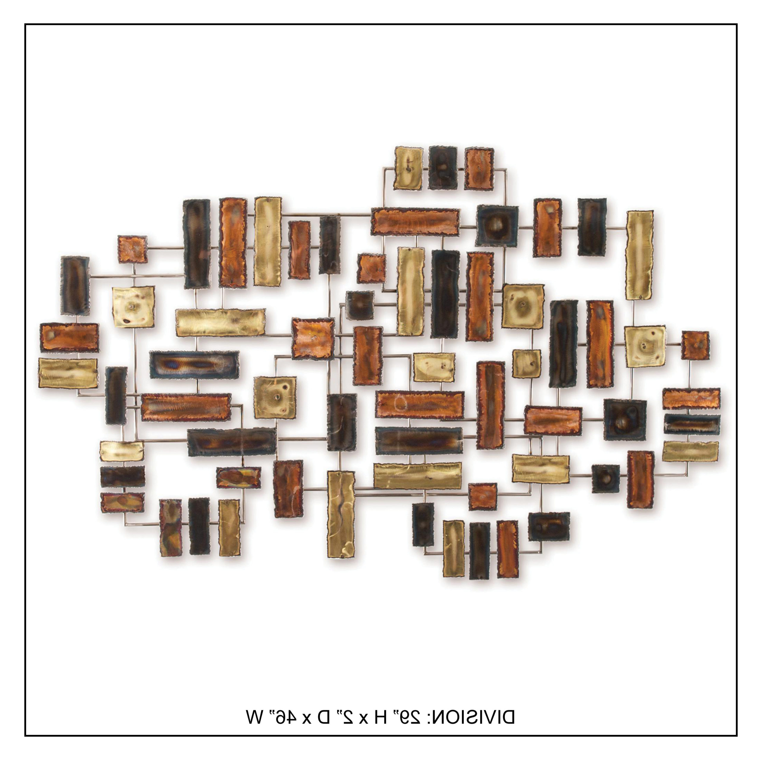 Division – Handcrafted Metal Wall Decor – Innomax Throughout Favorite Handcrafted Metal Wall Décor (View 4 of 20)