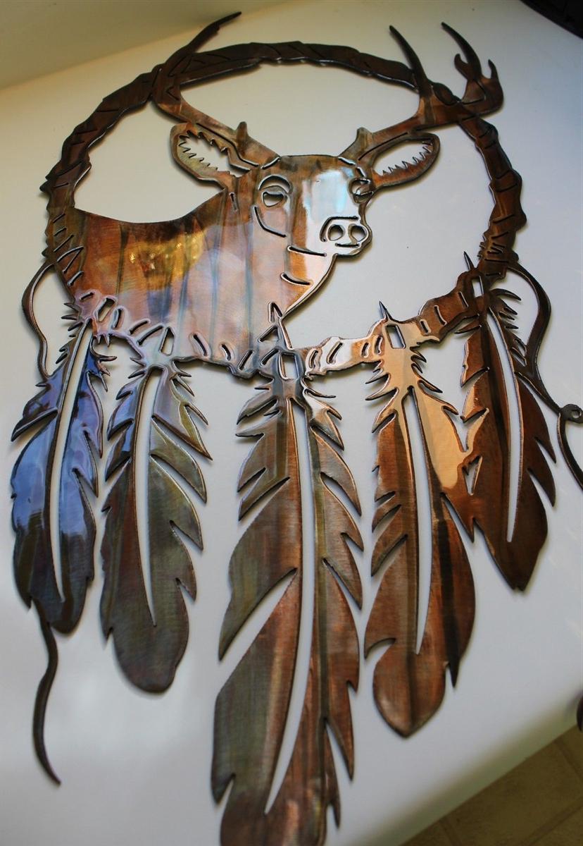 Dream Catcher Deer Head Metal Wall Art In Fashionable Dream Metal Wall Décor (View 17 of 20)