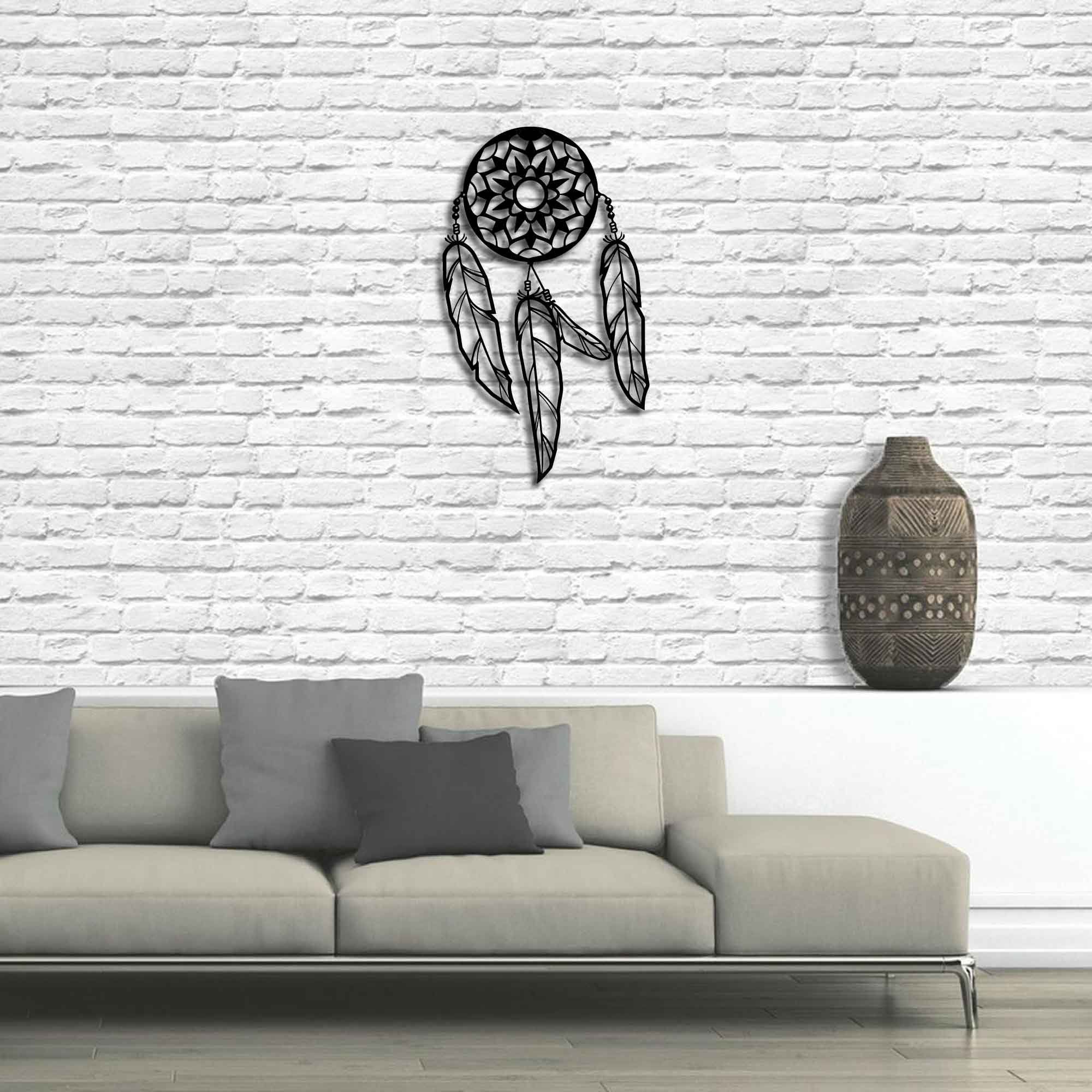 Dream Metal Wall Décor In Popular Metal Wall Art – Dream Catcher – Interior Decoration – Home (View 6 of 20)