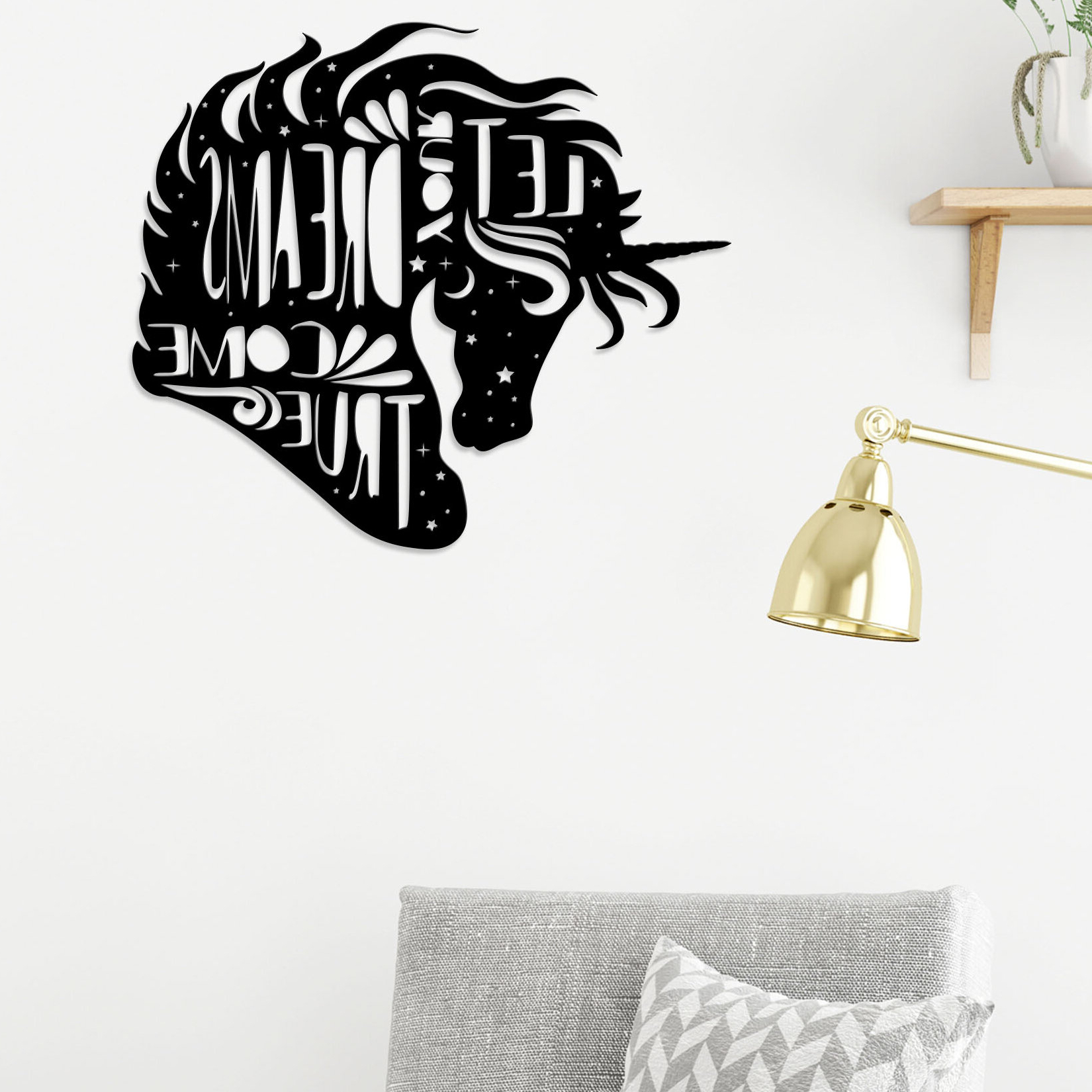 Dream Metal Wall Décor Intended For Trendy Unicorn Dreams Modern Metal Wall Décor (View 11 of 20)