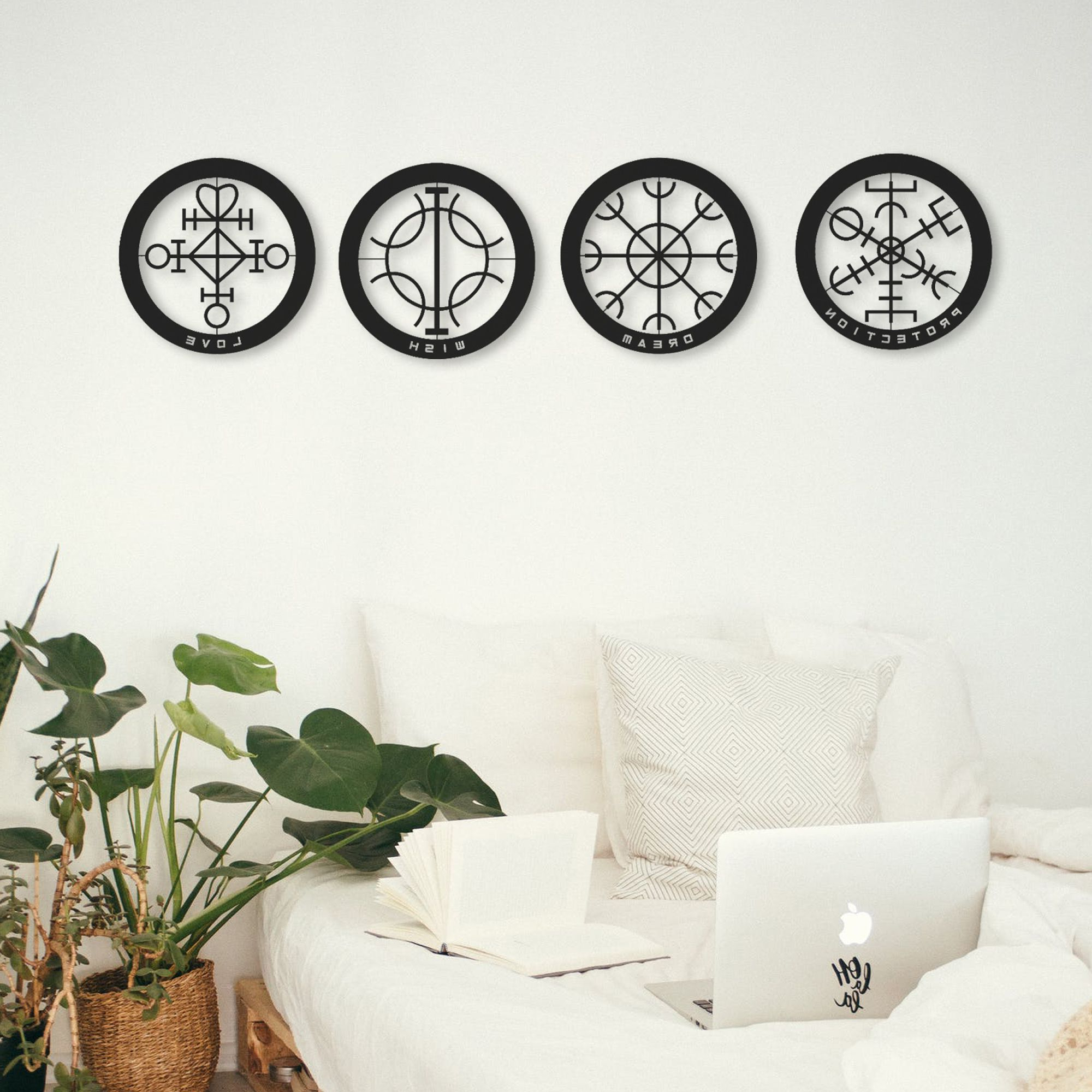 Dream Metal Wall Décor With Regard To Favorite Thedukha Set Of 4 Love, Dream, Wish, Protection Metal Wall (View 12 of 20)