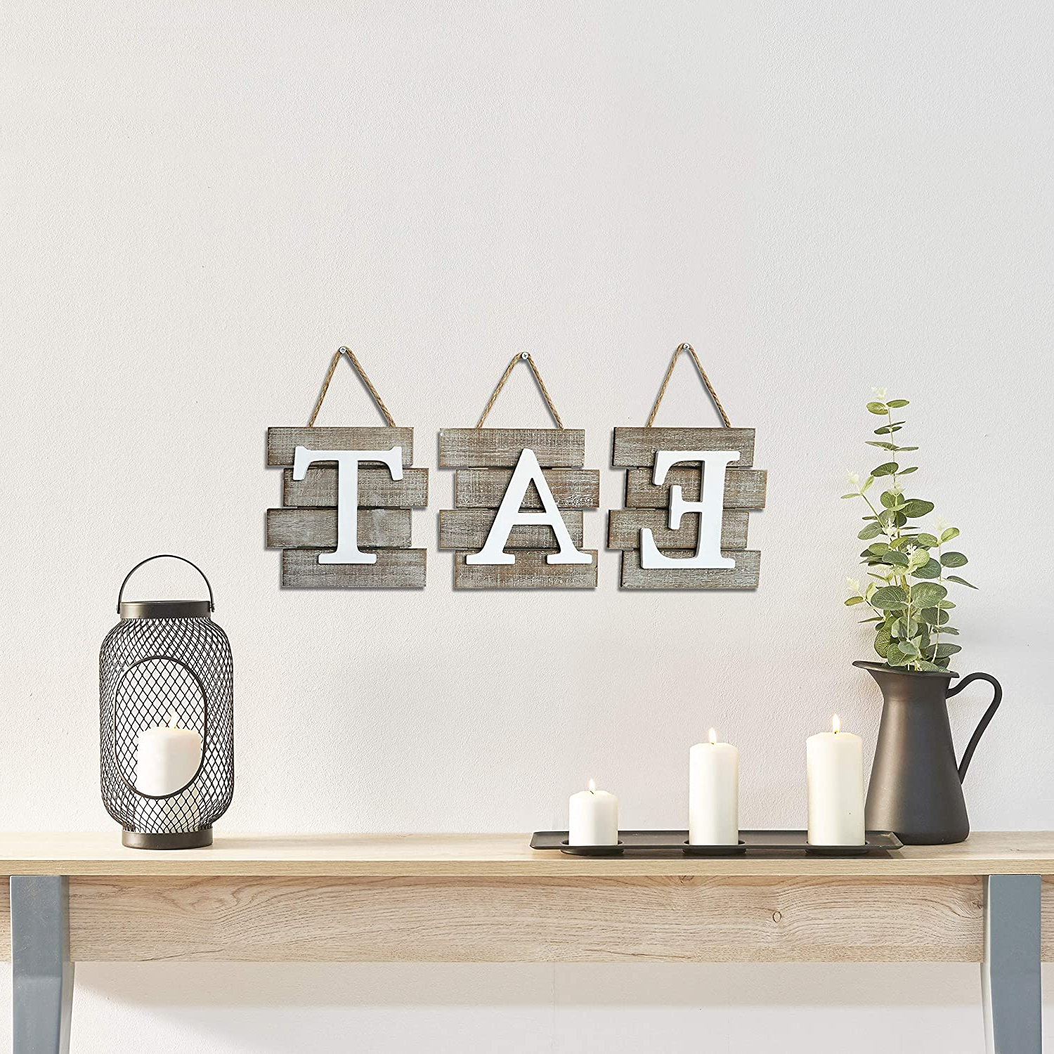 Eat Rustic Farmhouse Wood Wall Décor For Recent Barnyard Designs Eat Sign Wall Decor, Rustic Farmhouse Decoration For Kitchen And Home, Decorative Hanging Wooden Letters, Country Wall Art, (View 10 of 20)
