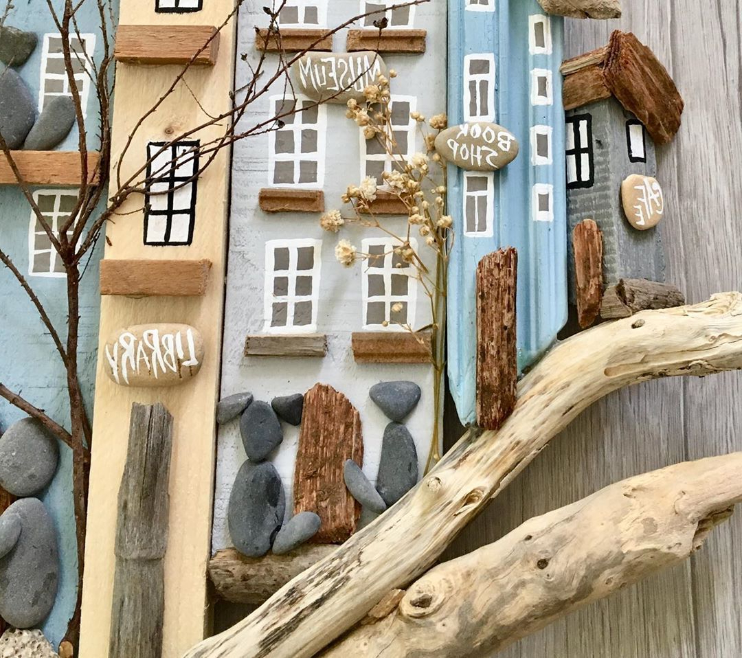 Edyth Wood And Metal Wall Décor Pertaining To Popular Driftwood Cottages Key Holder Wall Hanging Home Art Decor (View 18 of 20)