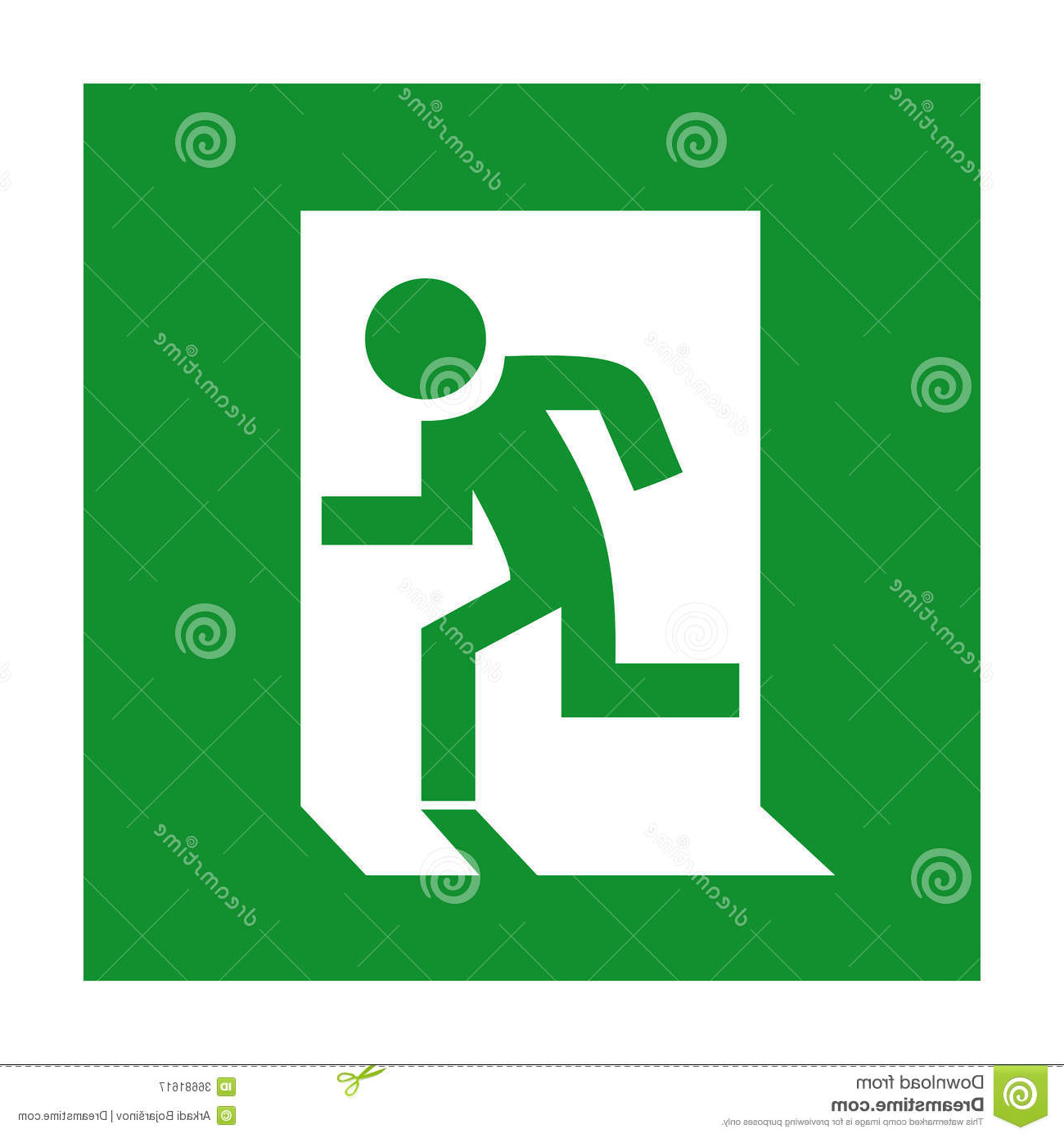 Emergency Exit Sign Stock Vector (View 16 of 20)