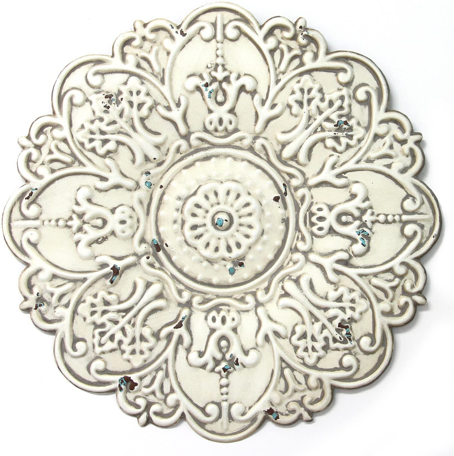 European Medallion Wall Décor Pertaining To Most Popular Stratton Home Décor S11563 Small Medallion Wall Décor, 13.00 Wx 0.50 Dx (View 8 of 20)