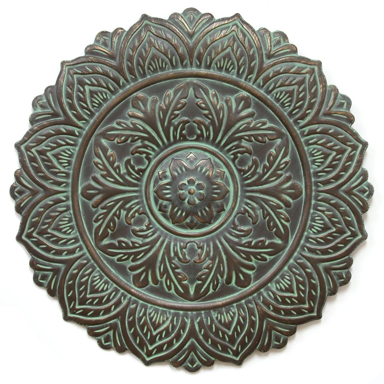 European Medallion Wall Décor Within Most Popular Stratton Home Decor Green Roman Medallion Wall Decor (View 7 of 20)