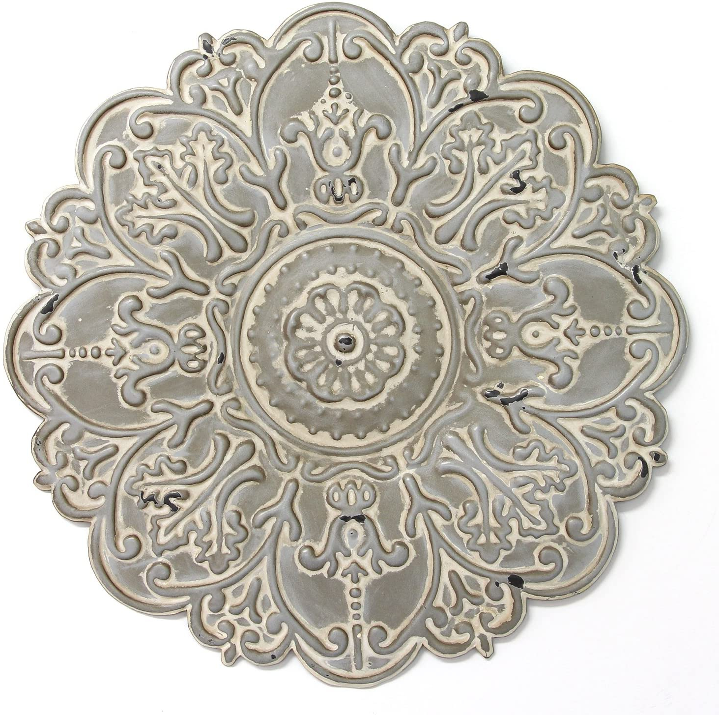 European Medallion Wall Décor Within Preferred Stratton Home Décor S11565 Small Medallion Wall Décor, 13.00 Wx 0.50 Dx (View 5 of 20)