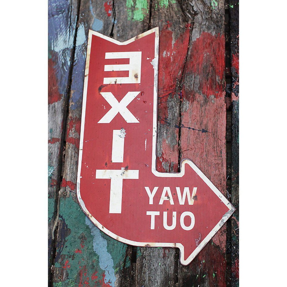 Exit Sign, 3r Studios In Exit Sign Textual Art (View 5 of 20)
