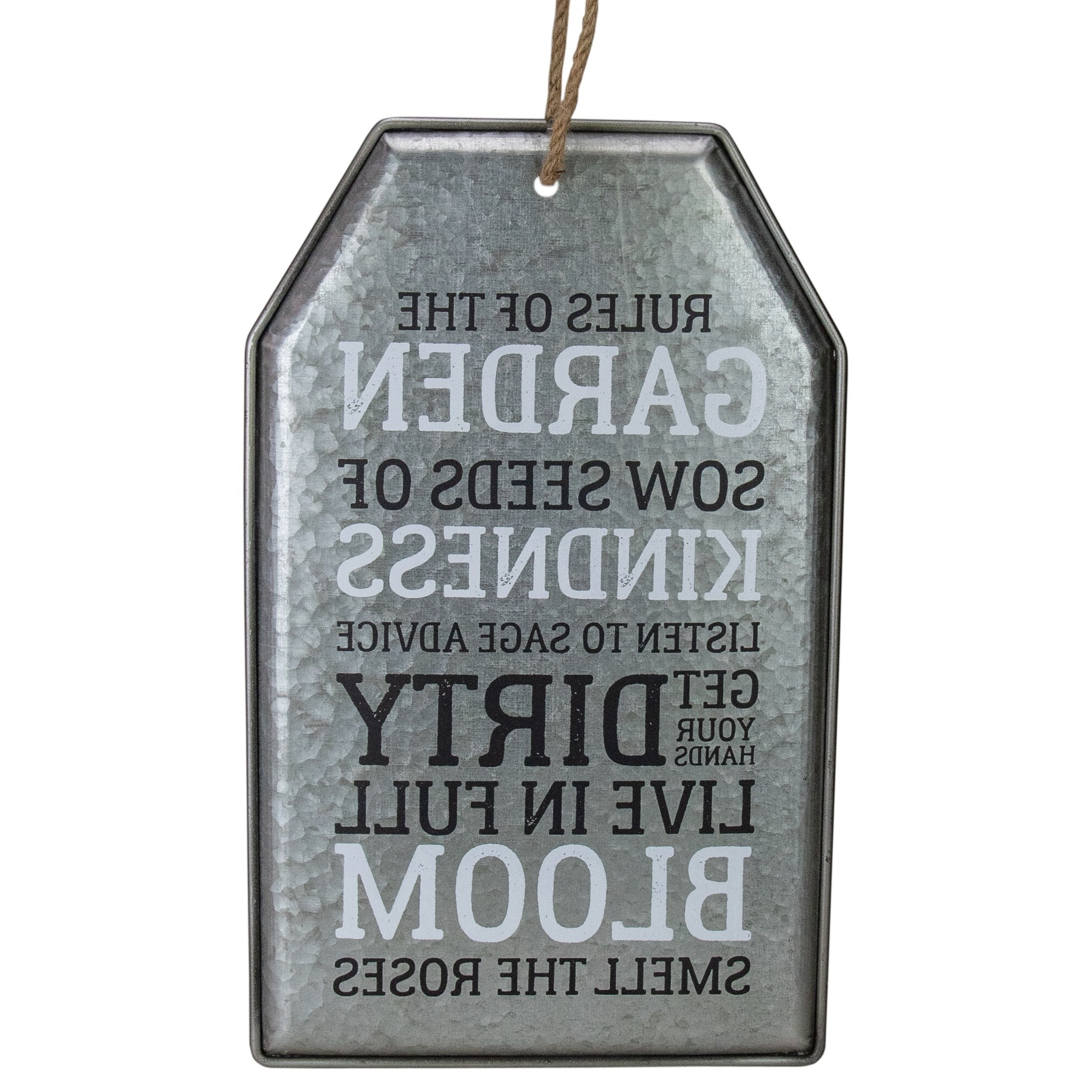 "Famous 16"" Distressed Metal Rules Of The Porch Hanging Wall Decor Regarding 'porch Rules' Metal Wall Décor (View 6 of 20)"