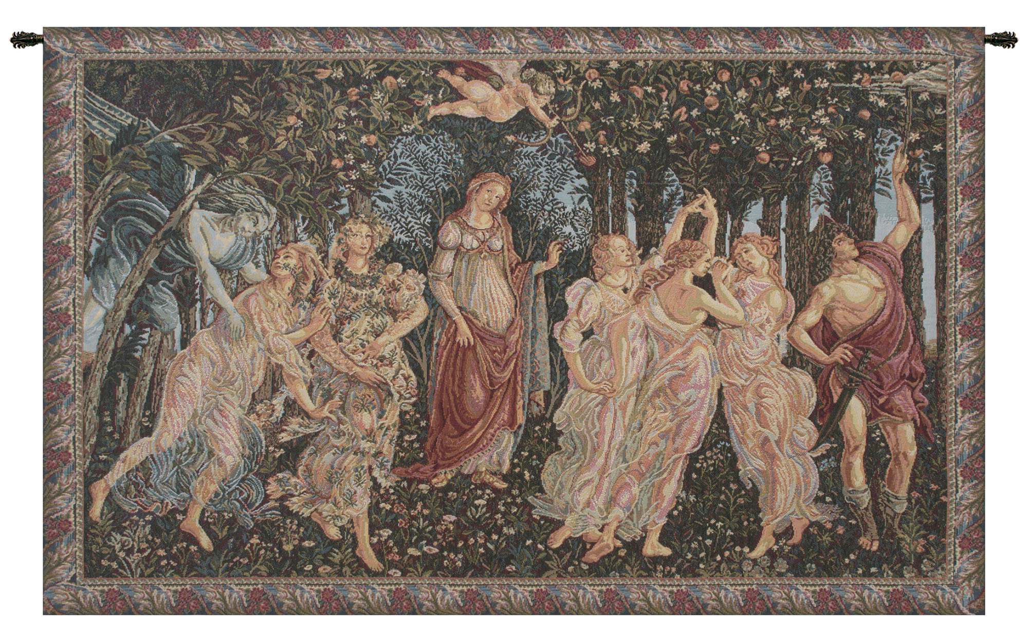 Famous Allegory Of Spring European Tapestry With Regard To Blended Fabric Mucha Autumn European Wall Hangings (View 12 of 20)