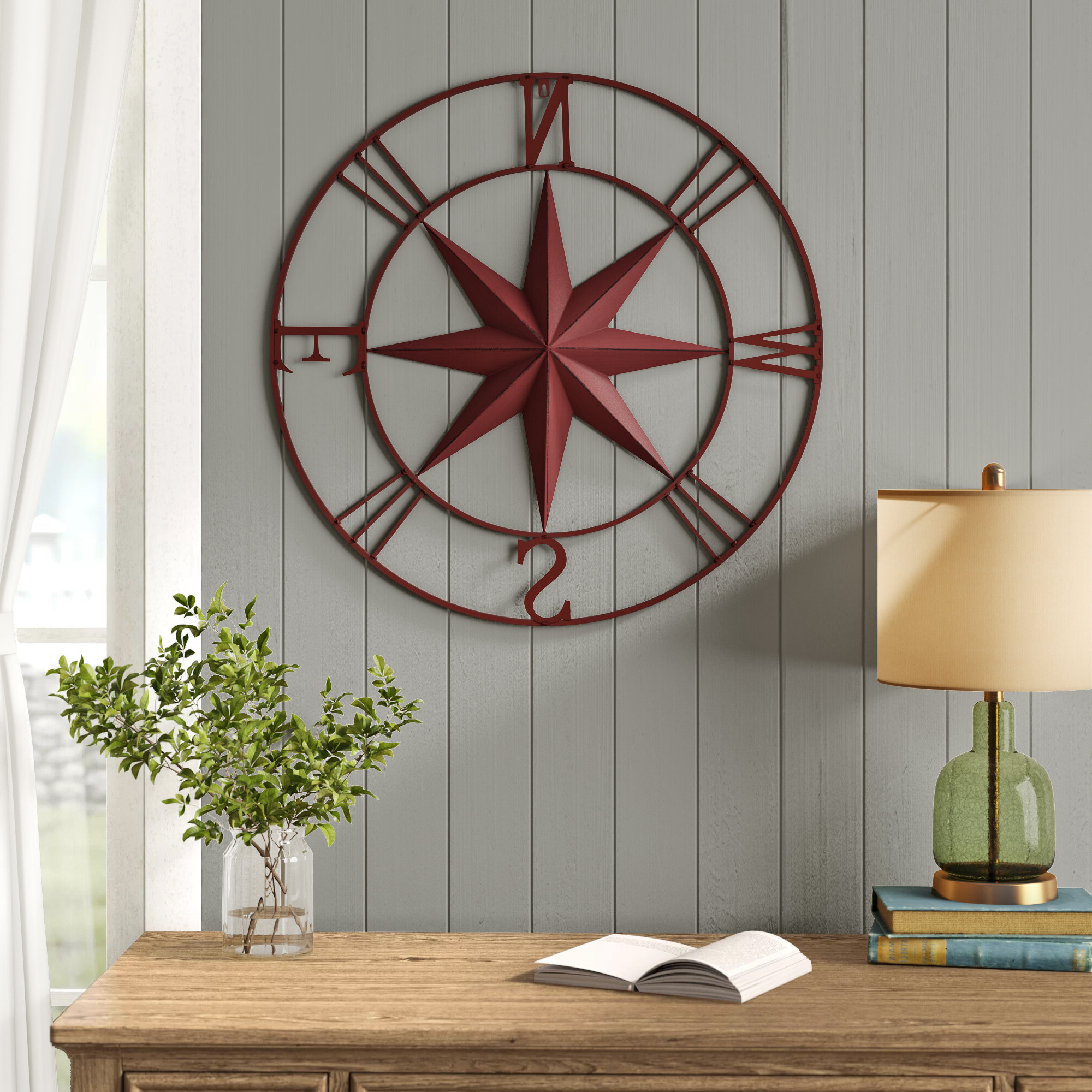 Famous Compass Metal Wall Décor By Beachcrest Home Pertaining To Myerstown Compass Rose Wall Décor (View 3 of 20)