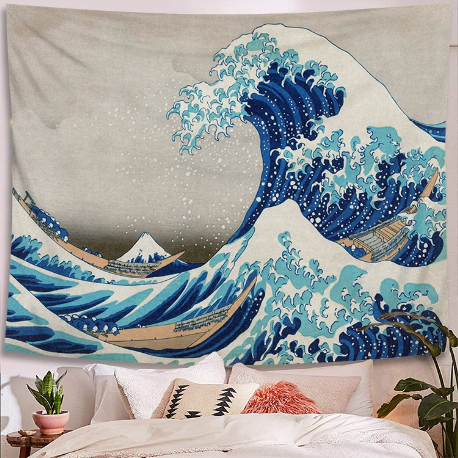 Famous Great Wave Kanagawa Polyester Tapestry With Hanging Accessories Included Within Blended Fabric Clancy Wool And Cotton Wall Hangings With Hanging Accessories Included (View 8 of 20)