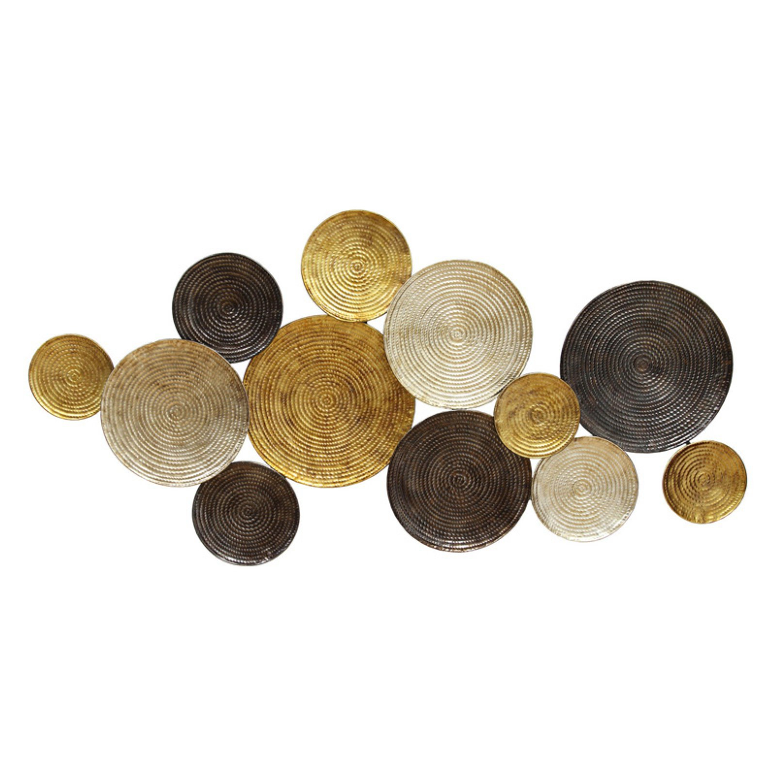 Famous Multi Circles Wall Décor With Regard To Stratton Home Decor Multi Circles Wall Decor – Walmart (View 3 of 20)