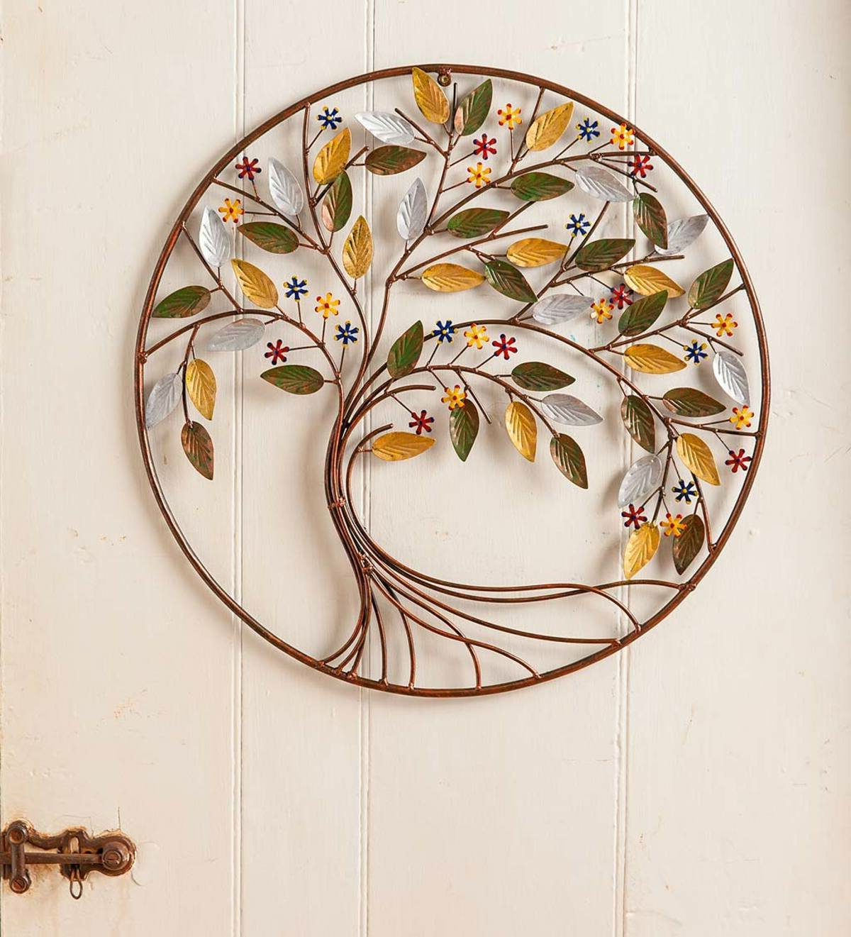 Famous Round Metal Tree Wall Décor For Graceful Over The Door Wall Décor (View 9 of 20)
