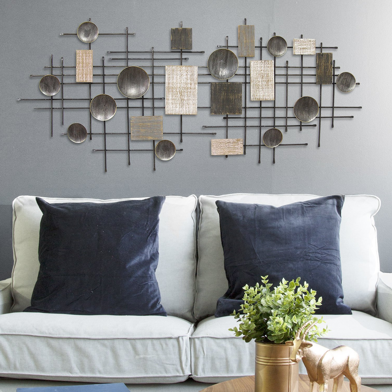 Famous Sand Dollar Cluster Wall Décor For Corrigan Studio® Large Modern Industrial Wall Décor (View 11 of 20)