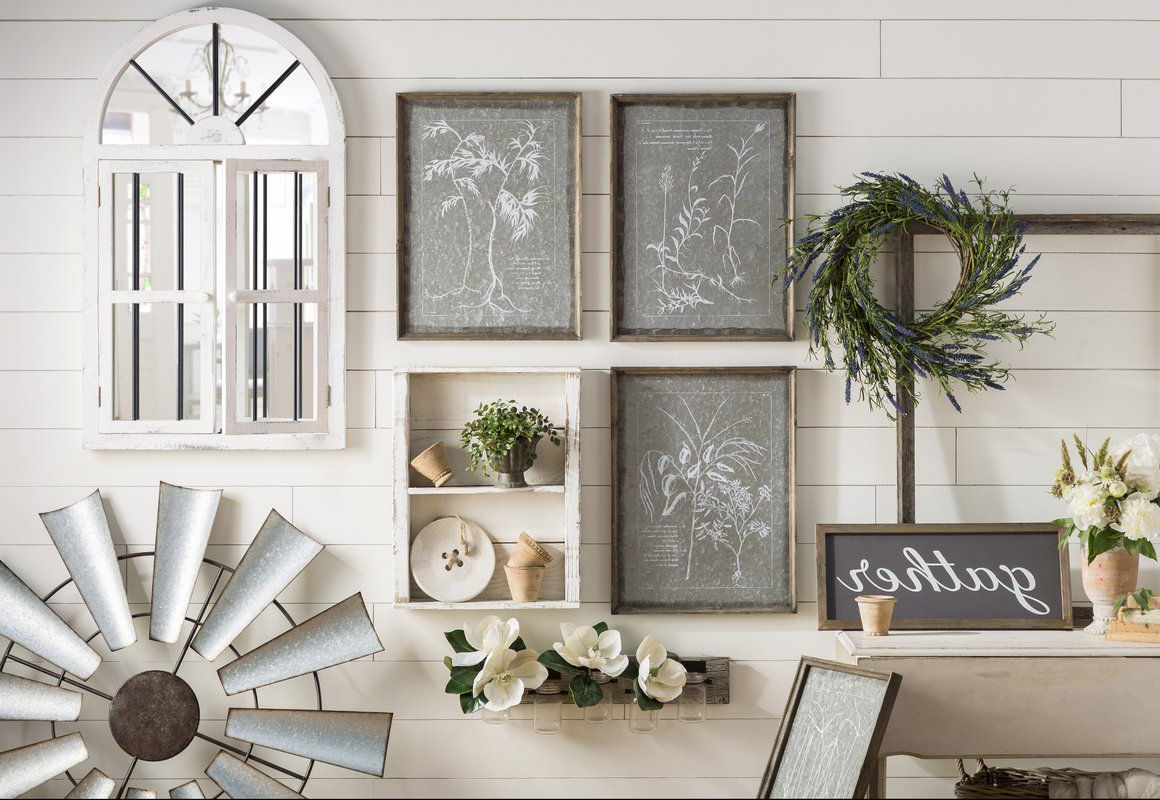 Farmhouse Wall Decor With Gather Galvanized Metal Wall Décor (View 14 of 20)