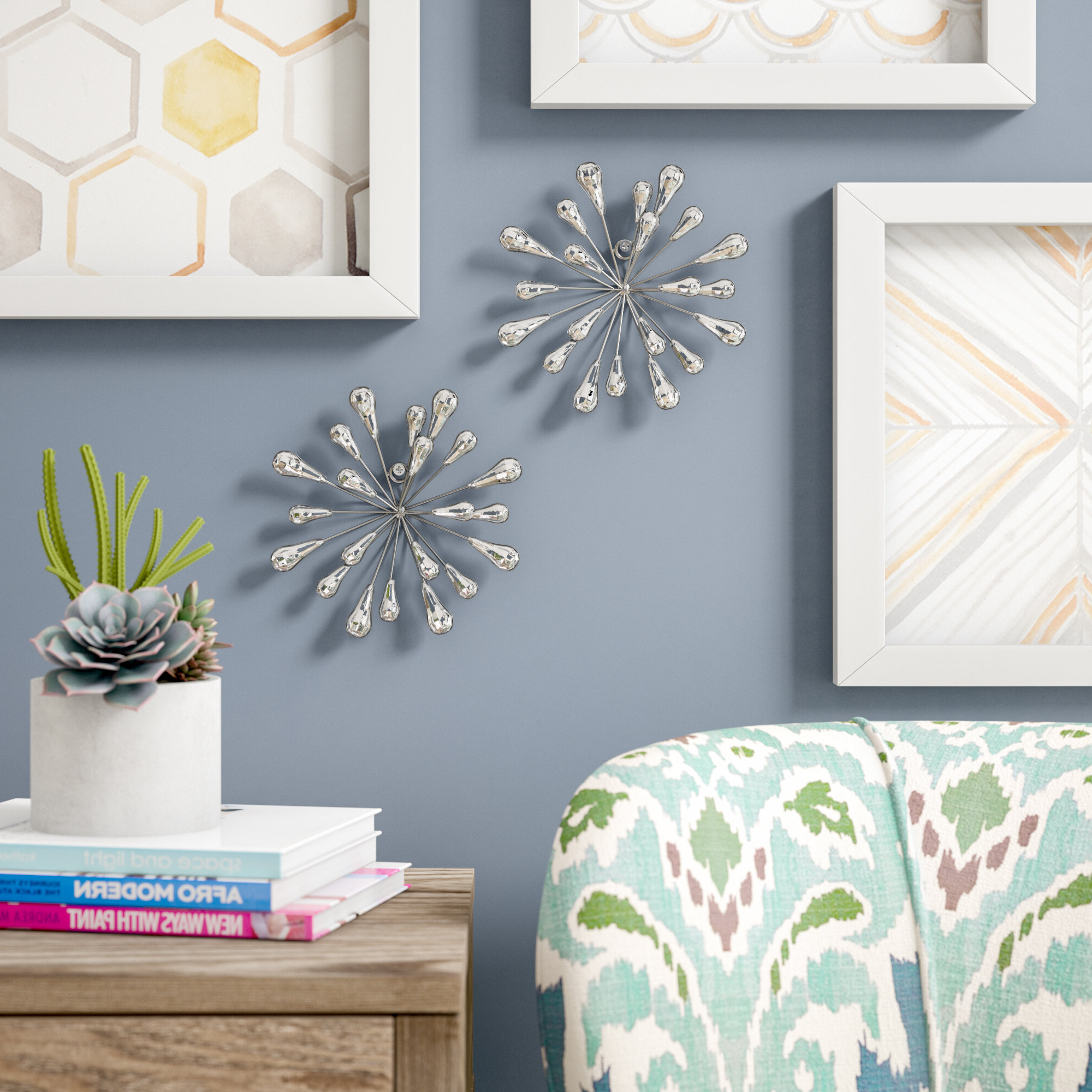 Featured Photo of 2 Piece Starburst Wall Décor Set By Wrought Studio
