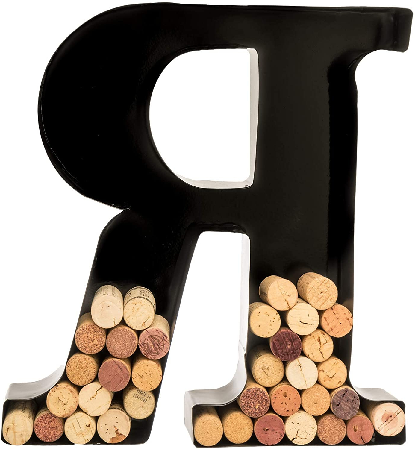 "Fashionable 4 Piece ""wine"" Letter Set Cork Holder Wall Décor Set Throughout Wine Cork Holder – Metal Monogram Letter (r), Black, Large (View 17 of 20)"