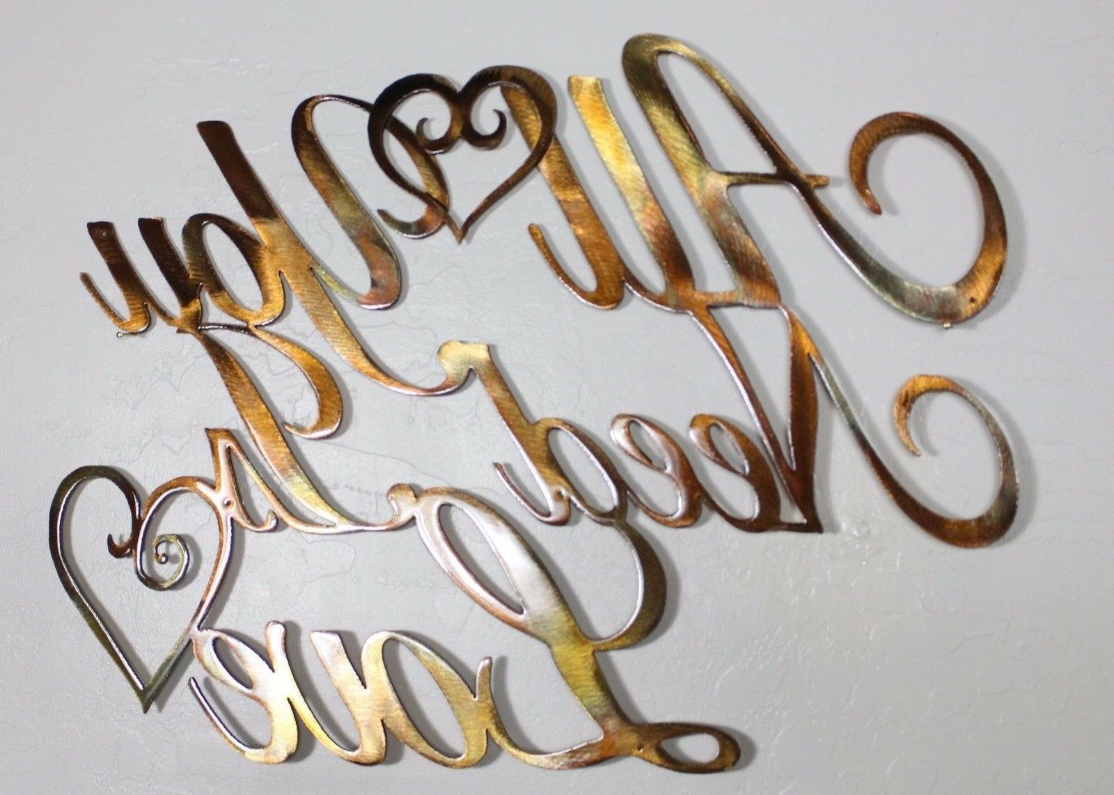 Fashionable All You Need Is Love Metal Wall Art Pertaining To Antique Copper Wall Decor By Winston Porter (View 16 of 20)