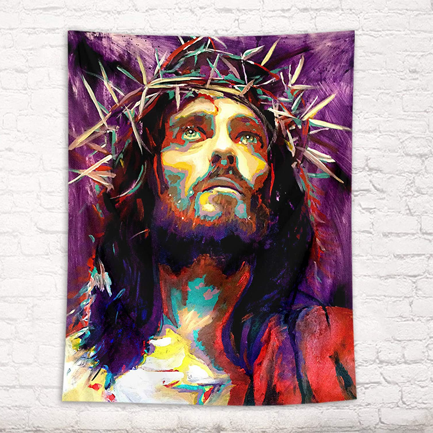 Fashionable Amazon: Hvest Jesus Tapestry Christian Faith Christmas Inside Blended Fabric Trust In The Lord Tapestries And Wall Hangings (View 2 of 20)