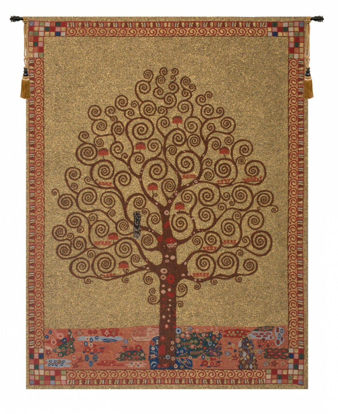 Featured Photo of Blended Fabric Klimt Tree Of Life Wall Hangings