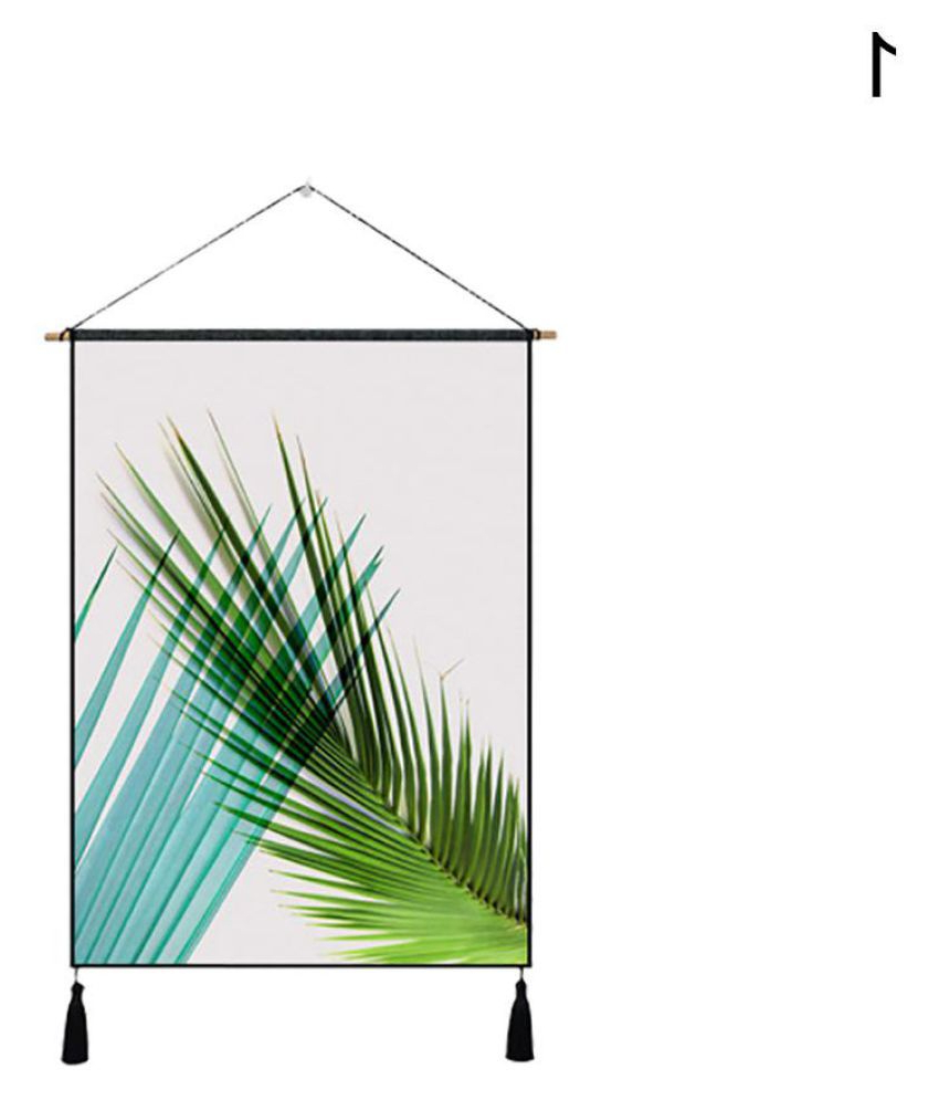 Fashionable Blended Fabric Leaf Wall Hangings In Nordic Palm Leaves Tassel Cloth Tapestry Wall Hanging (View 11 of 20)