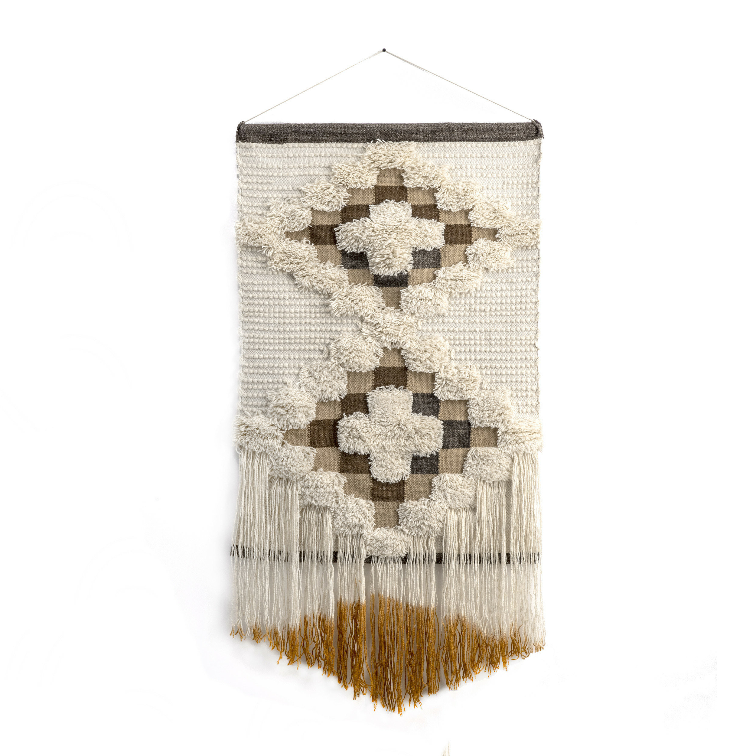 Fashionable Blended Fabric Saber Wall Hangings With Rod In Cotton Wall Hanging With Rod Included (View 10 of 20)