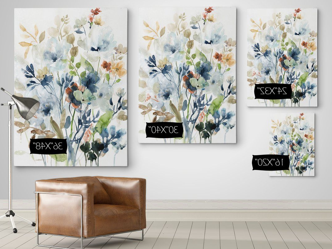 Fashionable Holland Spring Mix I' Oil Painting Print On Wrapped Canvas Within Abstract Tree Wall Décor By Winston Porter (View 18 of 20)