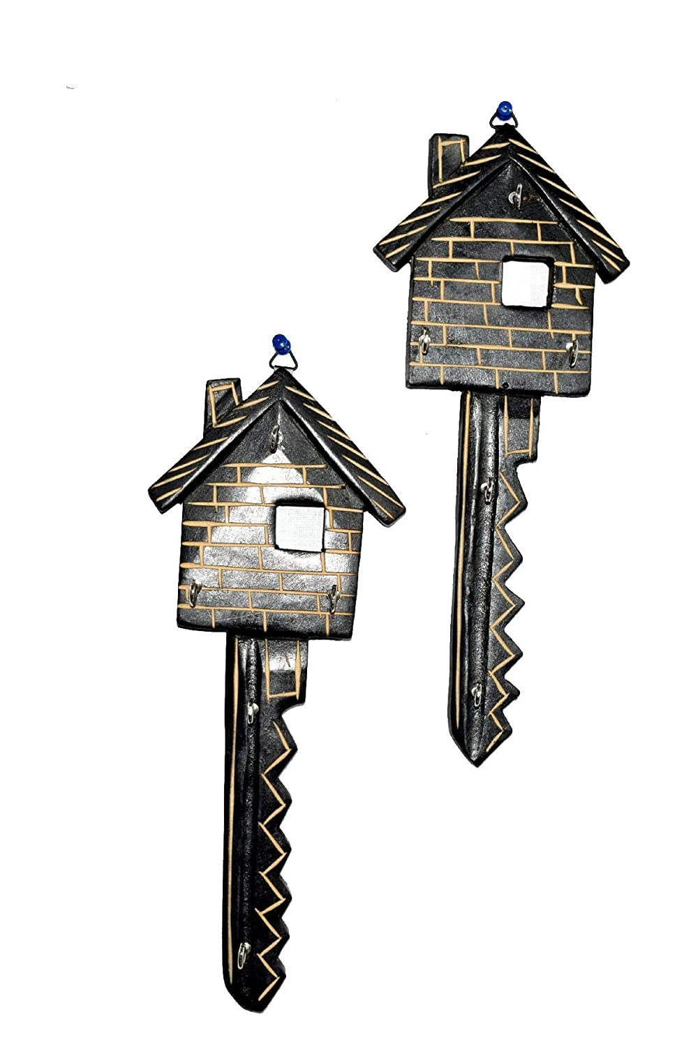 Fashionable Key Wall Décor (set Of 2) With Chilifry Hut Shaped Key Holder Set Of 2 For Wall Hanging (View 20 of 20)