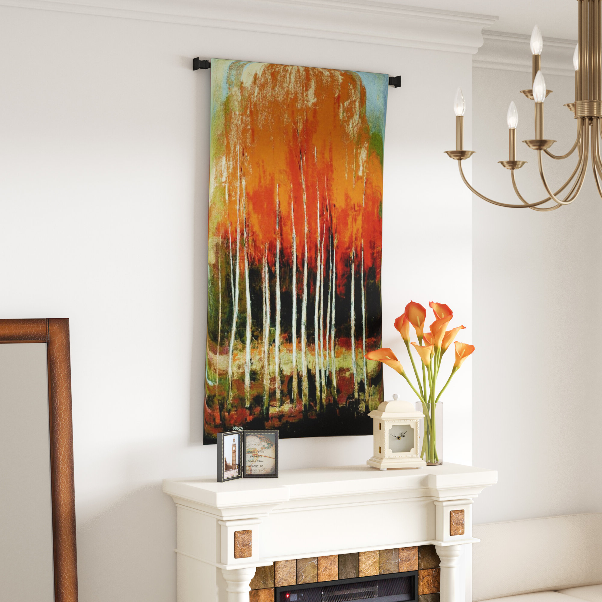 Fashionable Morning Whisper Cotton Wall Tapestry Throughout Blended Fabric Gallanteries European Wall Hangings (View 9 of 20)