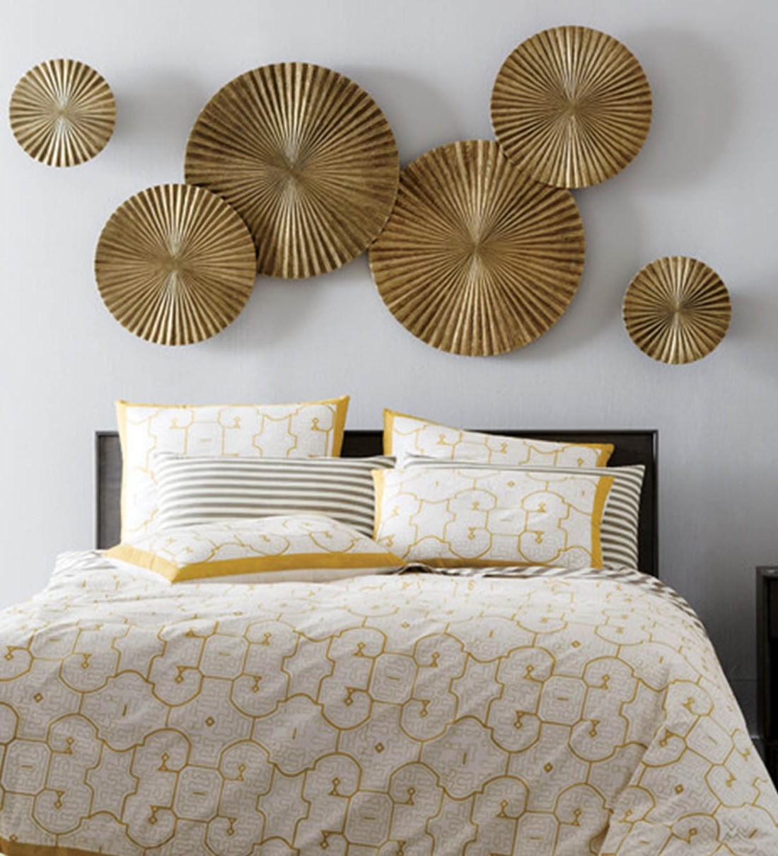 Fashionable Starburst Wall Décor By Wrought Studio Regarding Wrought Iron Decorative In Golden Wall Art (View 15 of 20)