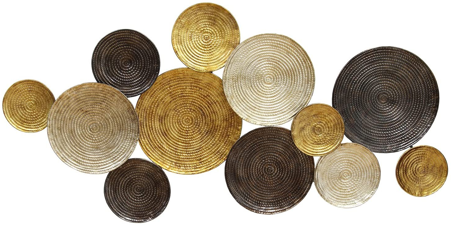 Fashionable Stratton Home Décor Shd0067 Multi Circles Wall Decor With Regard To Multi Circles Wall Décor (View 4 of 20)