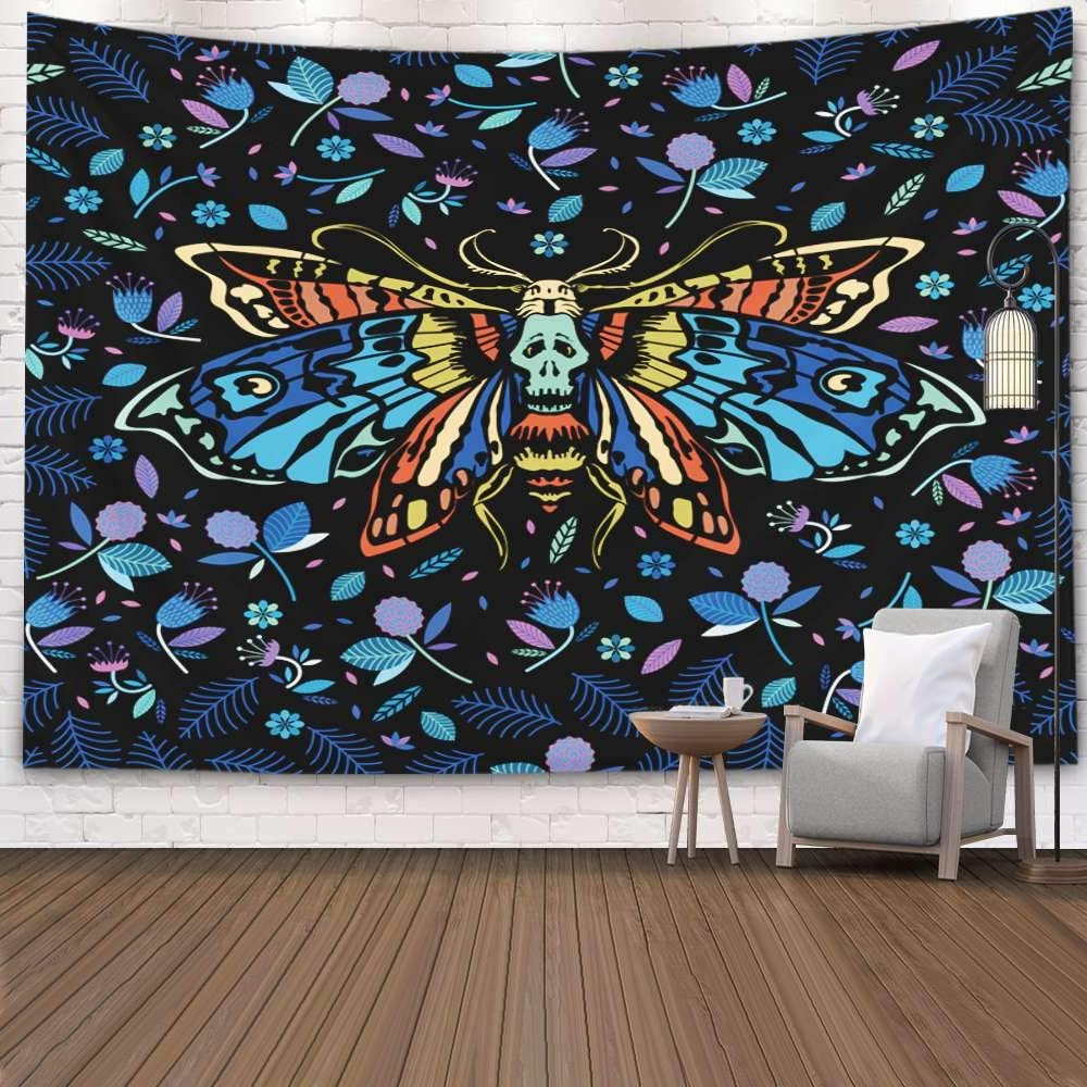 Favorite Amazon: Teepel Pattern Multicolored Dead Butterfly Night With Regard To Multicolored Butterfly Bouquet Wall Décor (View 7 of 20)