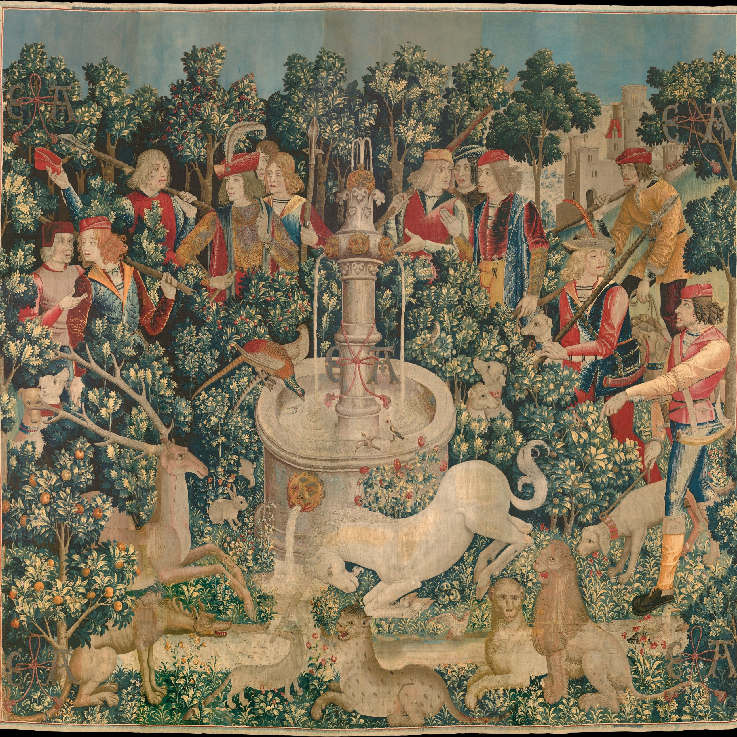 Favorite Blended Fabric Classic French Rococo Woven Tapestries Intended For Tapestry – Wikipedia (View 14 of 20)