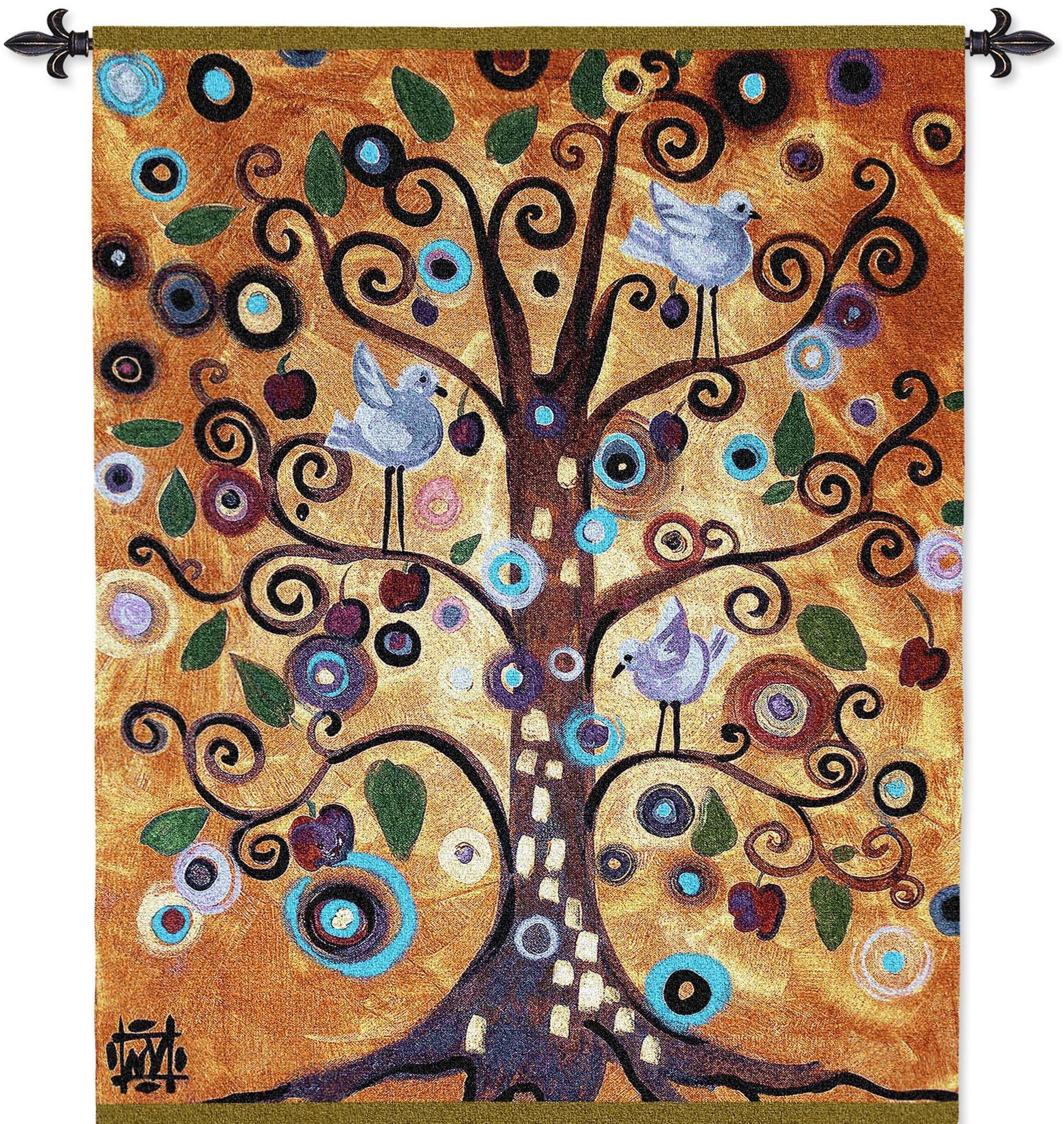 Favorite Blended Fabric Klimt Tree Of Life Wall Hangings Throughout Pin On Tapestries And Wall Hangings (View 10 of 20)