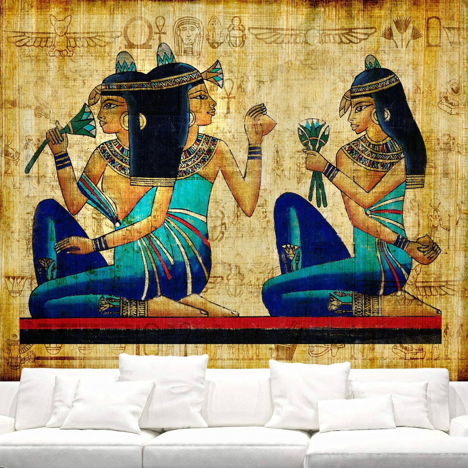 Favorite Blended Fabric Trust In The Lord Tapestries And Wall Hangings For Ancient Egyptian Papyrus Tapestry Wall Hanging,old Egyptian Parchment Wall Background,egyptian Queen Egypt Women Wall Tapestry For Bedroom Living (View 3 of 20)