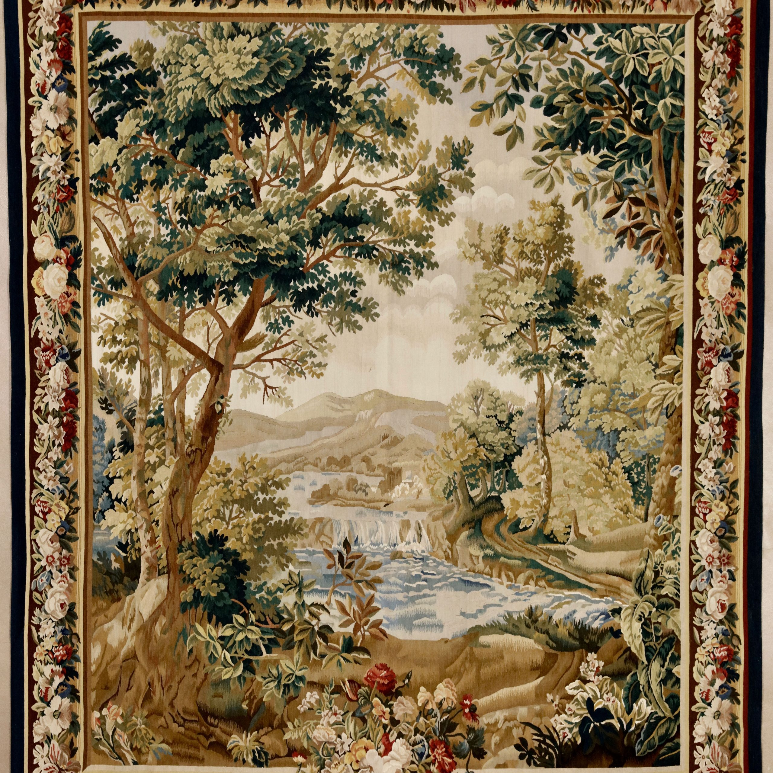 "Favorite Flemish Design Verdure Tapestry, 6'5"" X 7'10""david E Regarding Grandes Armoiries I European Tapestries (View 10 of 20)"