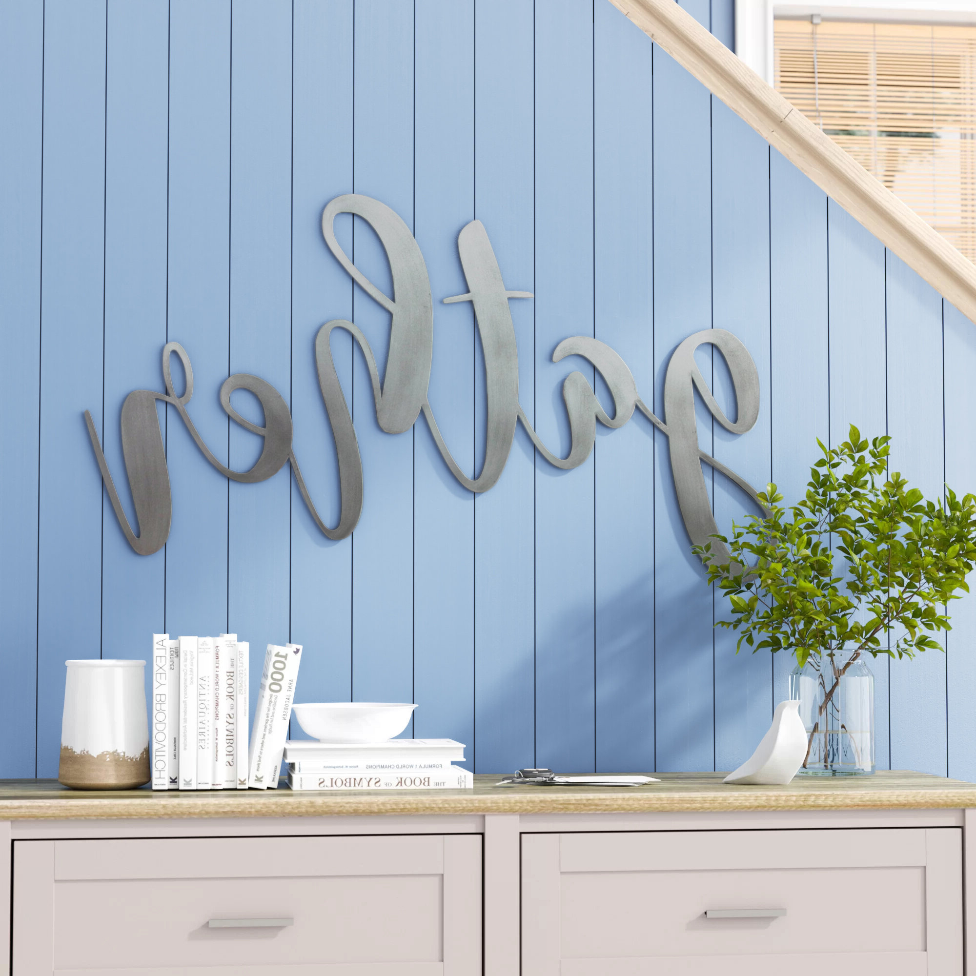 Favorite Metal Gather Script Sign Wall Décor Throughout Gather Script Wall Décor By Winston Porter (View 7 of 20)
