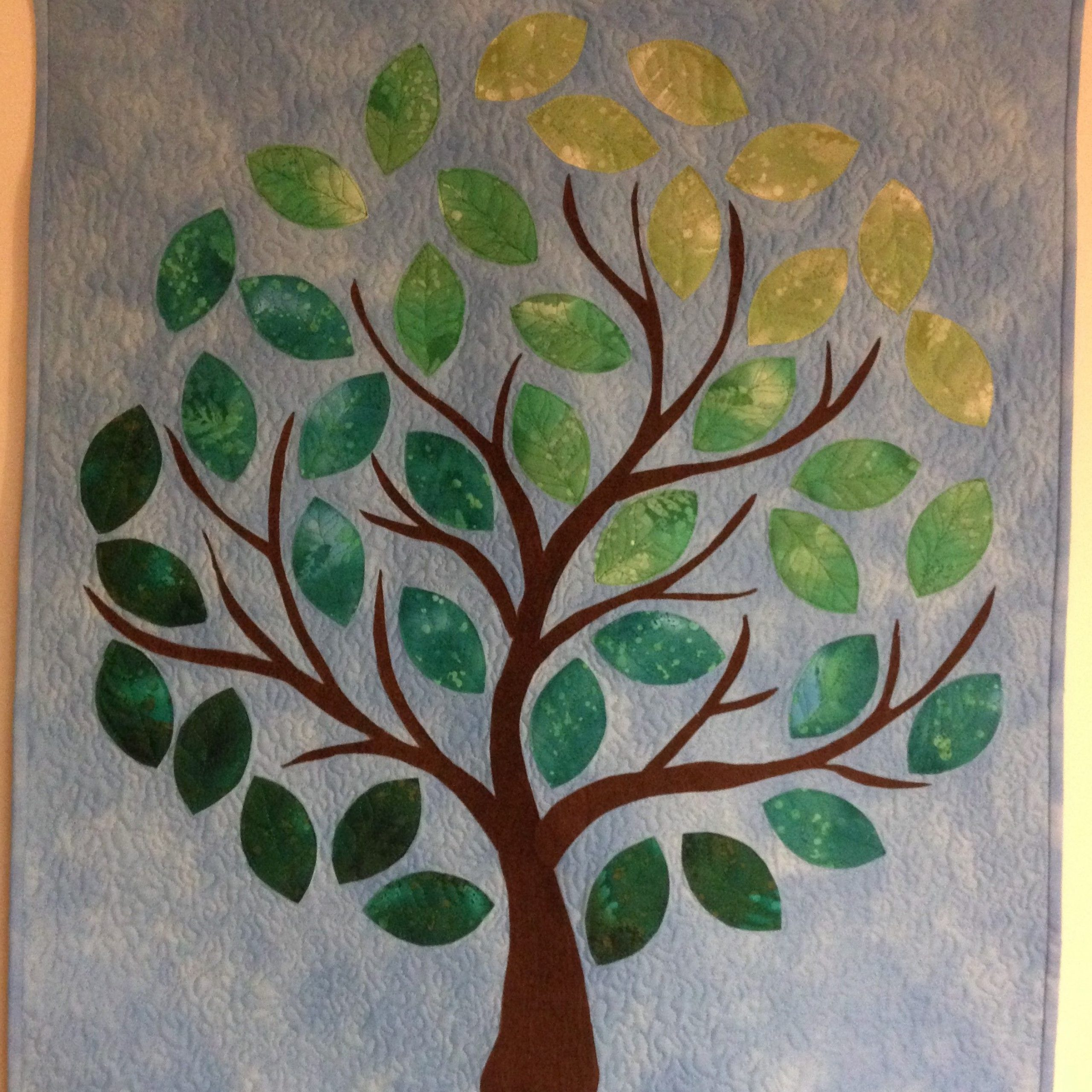 Favorite Quilted And Applique Tree Wall Hanging (View 12 of 20)
