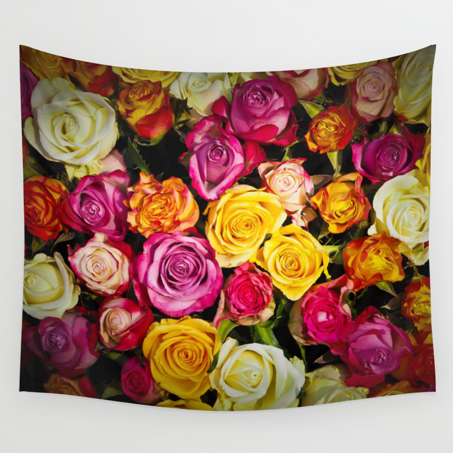 Favorite Roses I Tapestries Intended For Real Roses Pattern Wall Tapestryartcristoph (View 14 of 20)