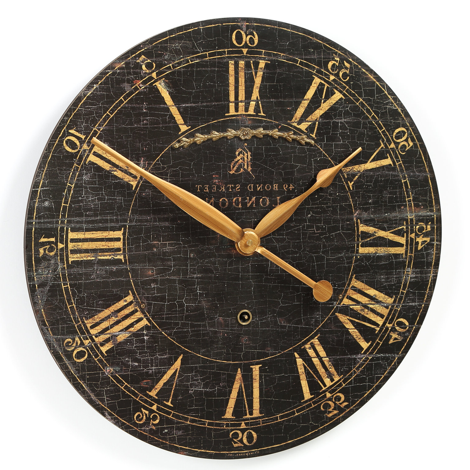 """Favorite Saint Benoit 18"""" Round Wood Wall Clock Intended For Fleta Panel Wall Décor (View 17 of 20)"""