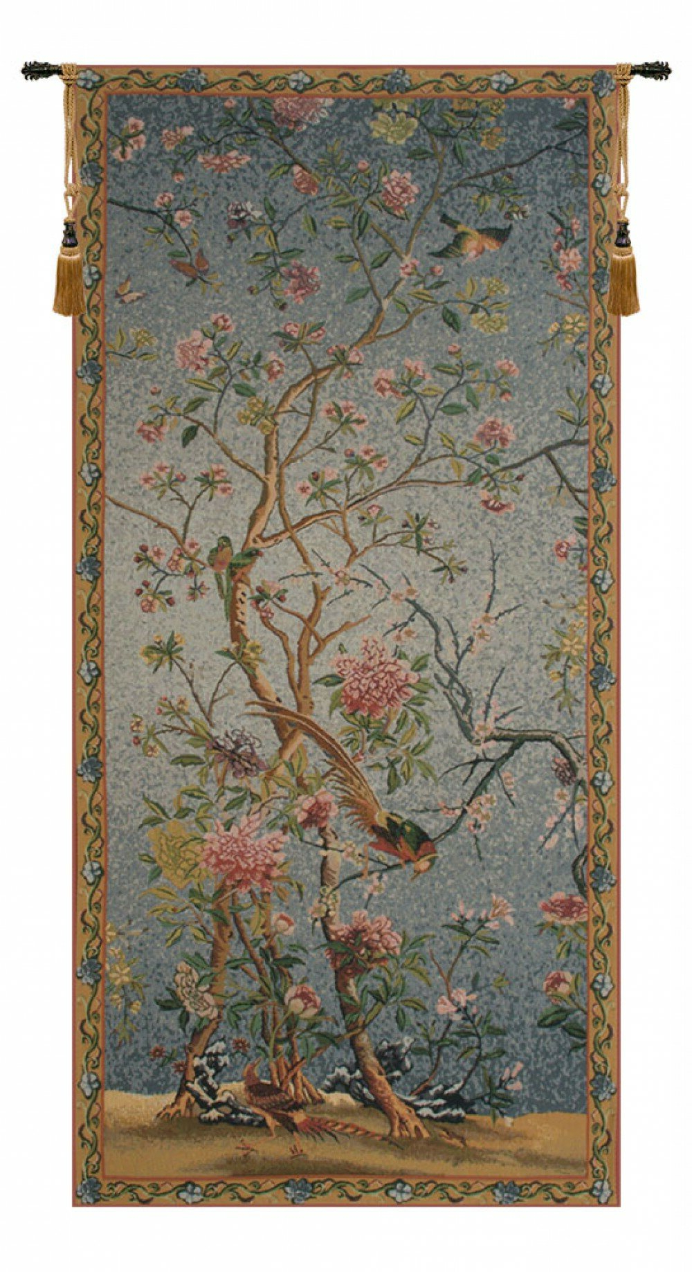 Favorite Spring Blossom Tapestry For Blended Fabric Ethereal Days Chinoiserie Wall Hangings With Rod (View 4 of 20)