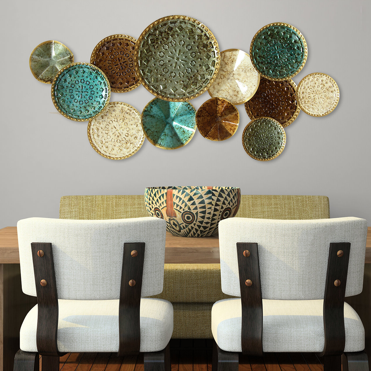 Favorite Starburst Wall Décor By Wrought Studio Throughout Multi Plates Wall Décor (View 16 of 20)