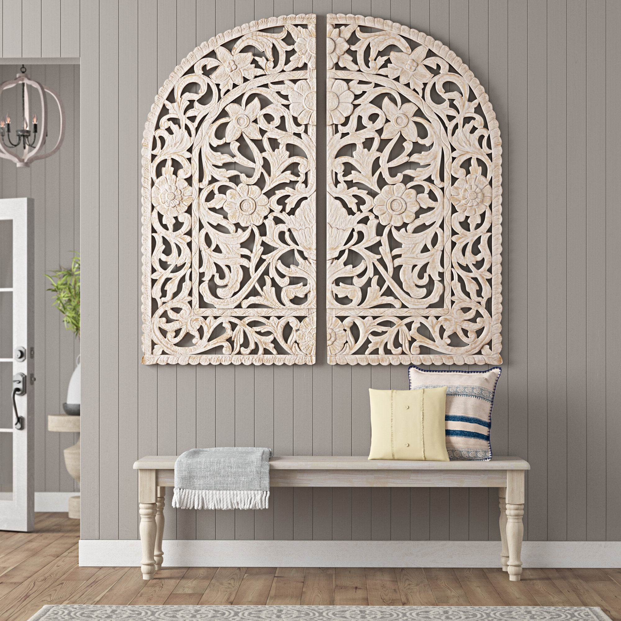 Favorite Traditional Wood Arched Ornate Wall Decor With Regard To Arch Wall Décor By One Allium Way (View 16 of 20)